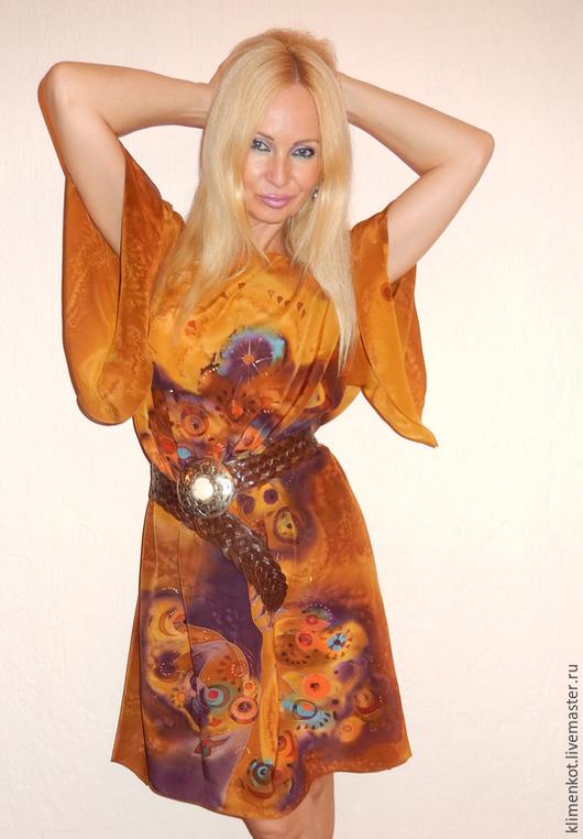 Платья ручной работы. Ярмарка Мастеров - ручная работа. Купить платье Карамель. Handmade. Оранжевый, карамельный, туника, море