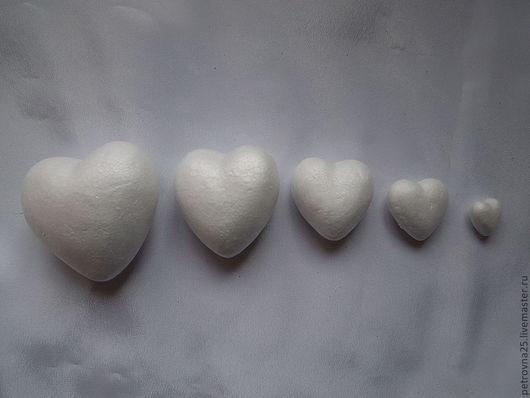 Декупаж и роспись ручной работы. Ярмарка Мастеров - ручная работа. Купить Сердца из пенопласта 2,4,6,8,10,15 ,20 см. Handmade.