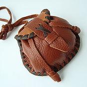 Фен-шуй и эзотерика ручной работы. Ярмарка Мастеров - ручная работа Мешочек из кожи для рун. Handmade.