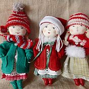 Куклы и пупсы ручной работы. Ярмарка Мастеров - ручная работа Куколки новогодние. Handmade.