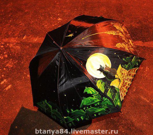 Зонты ручной работы. Ярмарка Мастеров - ручная работа. Купить зонт трость. ручная роспись. Handmade. Зонт