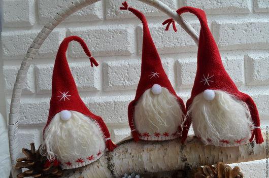Новый год 2017 ручной работы. Ярмарка Мастеров - ручная работа. Купить Скандинавские гномы. Handmade. Рождественский гном, новогодний гном