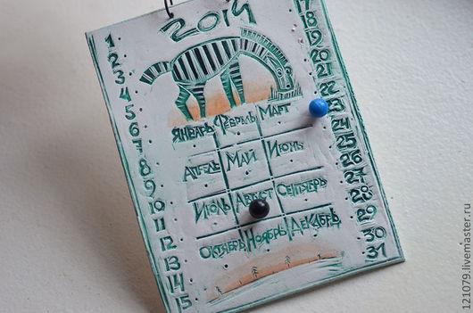 Календари ручной работы. Ярмарка Мастеров - ручная работа. Купить Календарь 2014. Handmade. Белый, календарь ручной работы, пластик