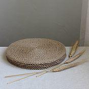 Для дома и интерьера handmade. Livemaster - original item Swipe: Set of jute napkins. Handmade.