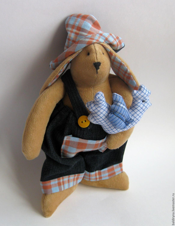 Toy tilde Bunny with Cock, Tilda Toys, Voronezh,  Фото №1