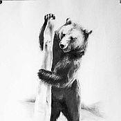 Картины и панно ручной работы. Ярмарка Мастеров - ручная работа Медведь 4-й. Handmade.