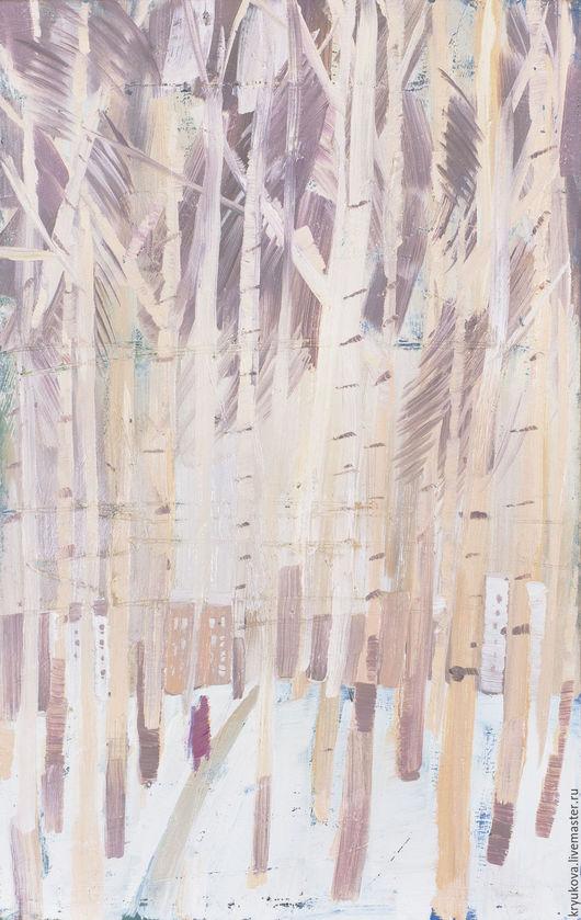 Анна Крюкова Impression-живопись Купить картину пейзаж Купить картину в интерьер Картина зима маслом Картина город маслом