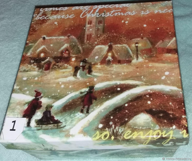 Подарочная новогодняя коробка, Материалы для творчества, Москва, Фото №1