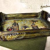 Для дома и интерьера handmade. Livemaster - original item Tray IN VINO VERITAS (TRUTH IN WINE). Handmade.