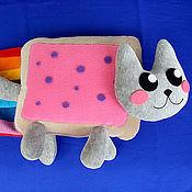 Куклы и игрушки handmade. Livemaster - original item Soft toy cute cat Nyan Cat, nanced. Handmade.