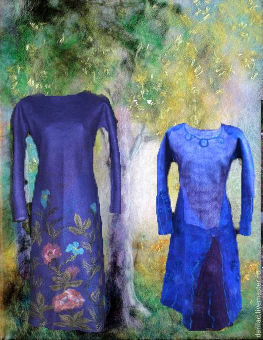 """Платья ручной работы. Ярмарка Мастеров - ручная работа. Купить Платье """"Сиреневый туман"""". Handmade. Валяное платье, шерстяное платье"""