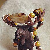"""Украшения ручной работы. Ярмарка Мастеров - ручная работа Бусы """"Лесной мёд"""". Янтарь империал, окаменелое дерево, яшма, тигровик.. Handmade."""