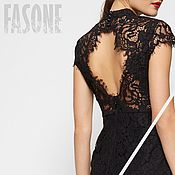 Одежда handmade. Livemaster - original item dresses: Black lace dress