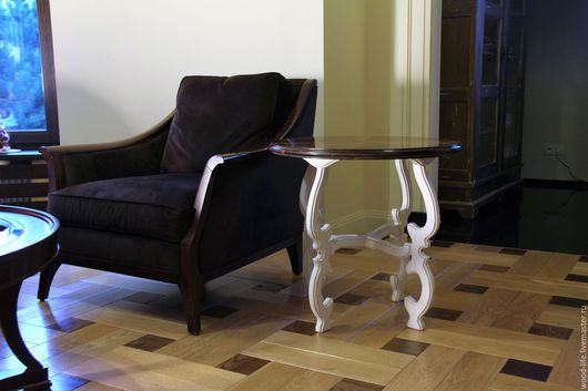 Мебель ручной работы. Ярмарка Мастеров - ручная работа. Купить Приставной столик, журнальный столик. Handmade. Белый, американский стиль