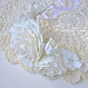"""Свадебный салон ручной работы. Ярмарка Мастеров - ручная работа Венок для невесты """"Белое  на белом"""". Handmade."""