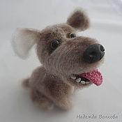 Куклы и игрушки handmade. Livemaster - original item The puppy is knitted, cute pooch Fido. Handmade.