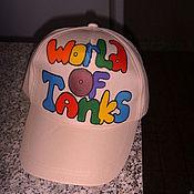 Одежда ручной работы. Ярмарка Мастеров - ручная работа Бейсболка с надписью World of Tanks. Handmade.