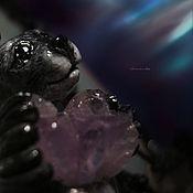 """Украшения ручной работы. Ярмарка Мастеров - ручная работа """"Сияющий Тюлень Пака"""", колье с аметистом. Handmade."""