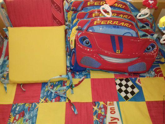 Детская ручной работы. Ярмарка Мастеров - ручная работа. Купить Бортики в кроватку и покрывало. Handmade. Комбинированный, одеяло пэчворк