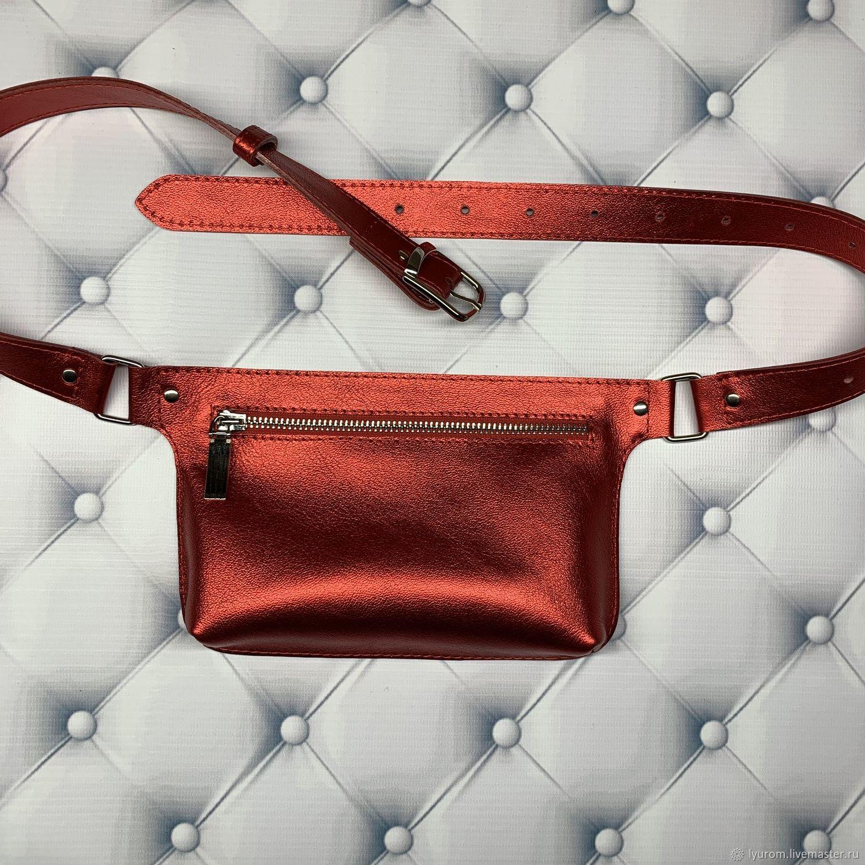 women's waist bag made of genuine leather, Waist Bag, Moscow,  Фото №1