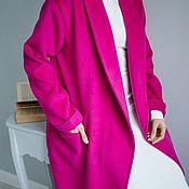 Пальто ручной работы. Ярмарка Мастеров - ручная работа Пальто на запах, без подклада. Handmade.
