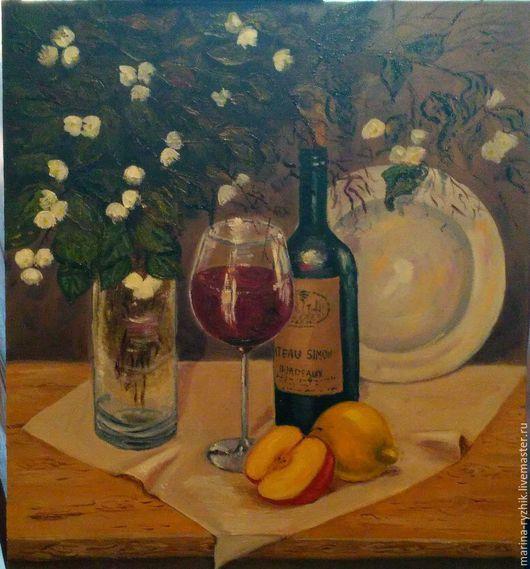 Картины цветов ручной работы. Ярмарка Мастеров - ручная работа. Купить вино и жасмин. Handmade. Живопись маслом, масло