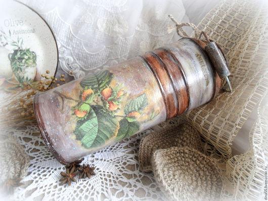 Вазы ручной работы. Ярмарка Мастеров - ручная работа. Купить Декоративный бидон ваза для цветов Орешник. Handmade. Комбинированный, дача