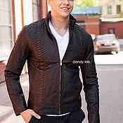 Одежда handmade. Livemaster - original item Python leather jacket. Handmade.