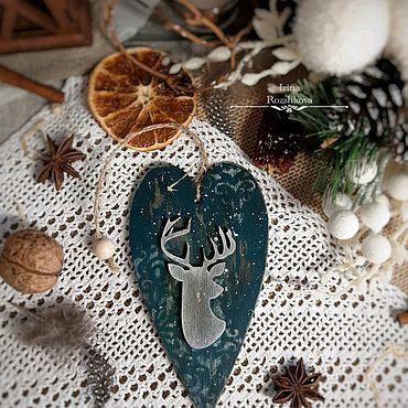 Для дома и интерьера ручной работы. Ярмарка Мастеров - ручная работа Новогодняя декоративная подвеска. Handmade.