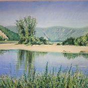Картины ручной работы. Ярмарка Мастеров - ручная работа Картины: Белая река. Handmade.