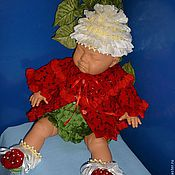 """Куклы и игрушки ручной работы. Ярмарка Мастеров - ручная работа Костюм """"Клубничное наслаждение"""". Handmade."""