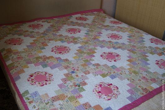 """Пледы и одеяла ручной работы. Ярмарка Мастеров - ручная работа. Купить Комплект  """"Летние цветы"""". Handmade. Белый, покрывало в спальню"""