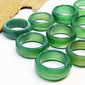 Украшения handmade. Livemaster - original item Green agate ring, chalcedony 18-20.5 R-R. Handmade.