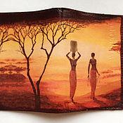 Канцелярские товары ручной работы. Ярмарка Мастеров - ручная работа Обложка для паспорта Африка. Handmade.