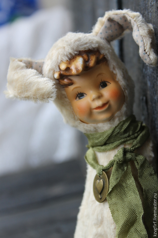 Мишки Тедди ручной работы. Ярмарка Мастеров - ручная работа. Купить Асель. Handmade. Кремовый, антикварная головка