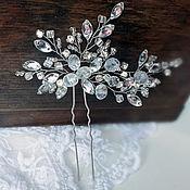 Свадебный салон ручной работы. Ярмарка Мастеров - ручная работа Хрустальная шпилька для свадебной прически ручной работы. Handmade.