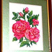 Картины и панно ручной работы. Ярмарка Мастеров - ручная работа Картина , вышитая бисером , Розы. Handmade.