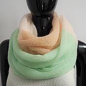 Аксессуары handmade. Livemaster - original item Snood two turns (creamy pale green apricot). Handmade.
