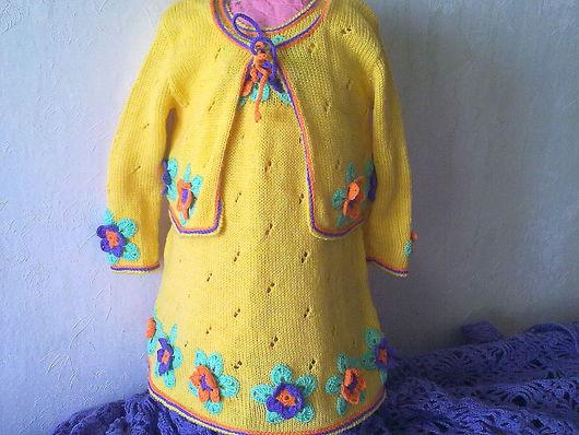 Одежда для девочек, ручной работы. Ярмарка Мастеров - ручная работа. Купить комплект Лето. Handmade. Сарафан, костюм, полушерсть