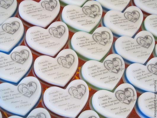 Подарки на свадьбу ручной работы. Ярмарка Мастеров - ручная работа. Купить Свадебное мыло комплимент для гостей.. Handmade. Разноцветный, бонбоньерка