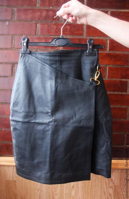 Одежда. Ярмарка Мастеров - ручная работа. Купить Кожаная юбка Styleworks ретро. Handmade. Черный, юбка, кожа, кожаная юбка