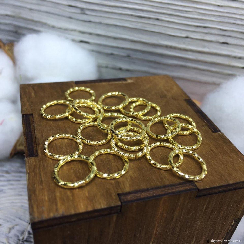 Колечки соединительные 10 мм желтое золото, Фурнитура, Краснодар,  Фото №1