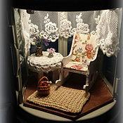 """Куклы и игрушки ручной работы. Ярмарка Мастеров - ручная работа """"Старая веранда"""" румбокс в фонарике. Handmade."""