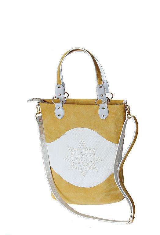 """Женские сумки ручной работы. Ярмарка Мастеров - ручная работа. Купить Сумка женская """"Sunny"""". Handmade. Желтый, модная сумка"""