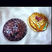 Посуда ручной работы. Ярмарка Мастеров - ручная работа Блюдце для чайных пакетиков в ассортименте из цветного стекла.. Handmade.