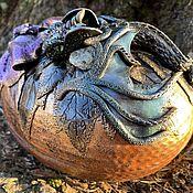 Для дома и интерьера handmade. Livemaster - original item Casket ( casket fantasy ) with Prehnite. Handmade.