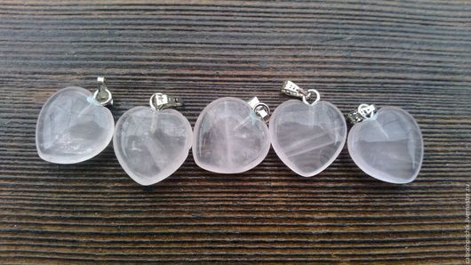 Для украшений ручной работы. Ярмарка Мастеров - ручная работа. Купить Кулон сердце, сердце из камня, розовый кварц. Handmade.