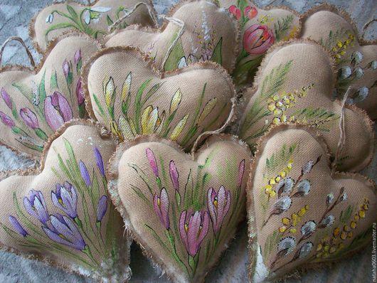 Подарки для влюбленных ручной работы. Ярмарка Мастеров - ручная работа. Купить Весна идет!! Весне дорогу!!! Кофейные сердечки. Роспись.. Handmade.