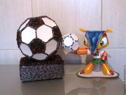 Подарки для мужчин, ручной работы. Ярмарка Мастеров - ручная работа. Купить Кофейный футбольный мяч. Handmade. Чёрно-белый, футбол