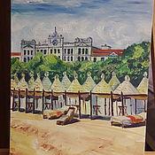 Картины ручной работы. Ярмарка Мастеров - ручная работа Картины: пляж острова Лидо, Венеция.. Handmade.